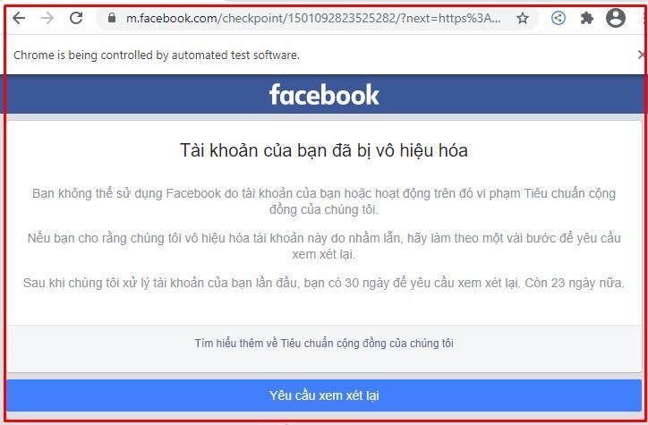 Cách lấy lại tài khoản facebook bị vô hiệu hóa